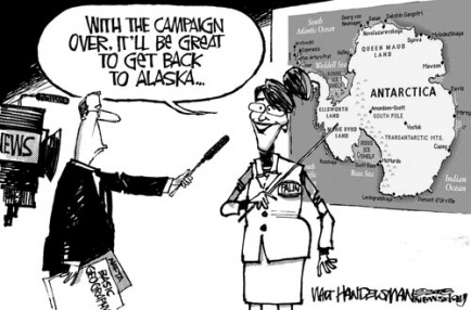 role political cartoons election